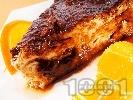 Рецепта Вкусна торта с кроасани с течен шоколад, яйчен крем и карамелена заливка